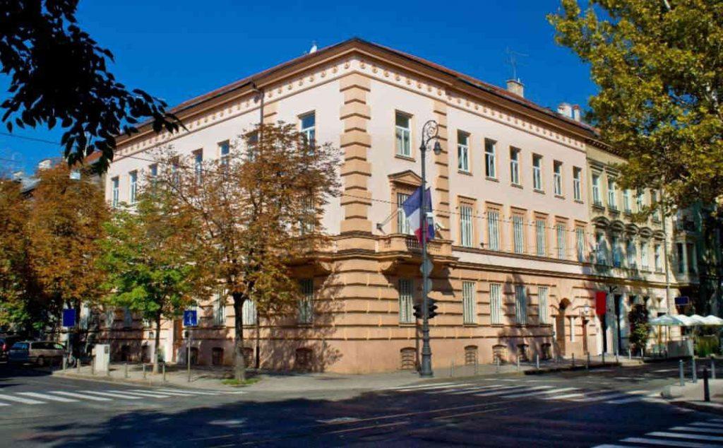 Sede dell'ambasciata francese a Zagabria